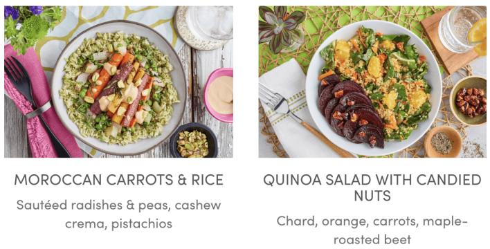 Green Chef vegan Options