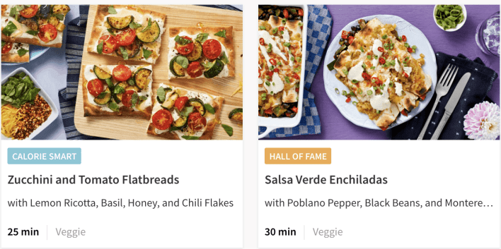 Hellofresh classic plan dishes 2