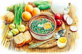 Русская кухня в картинках