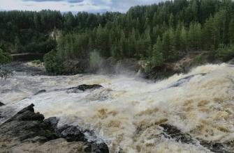 Карелия, водопад Гирвас