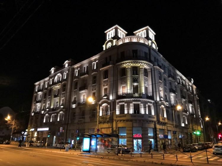Faculty Belgrade by night