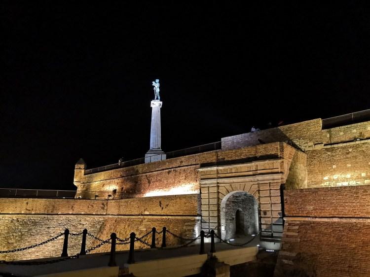 The King's Gate Belgrade by night