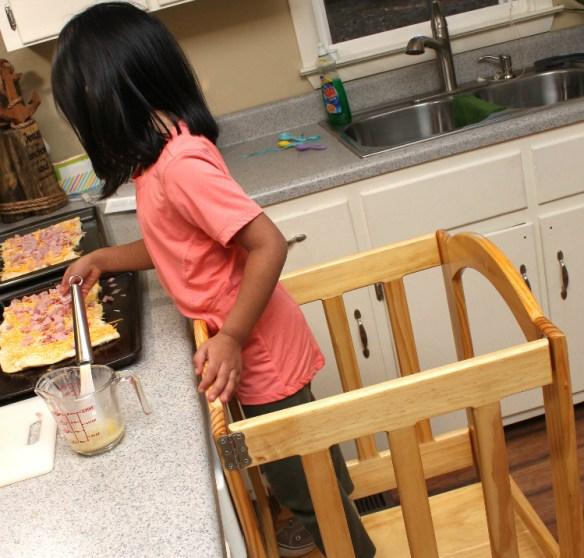 Toddlers Helping Bake