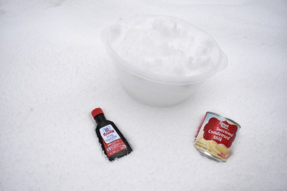 snow cream recipe