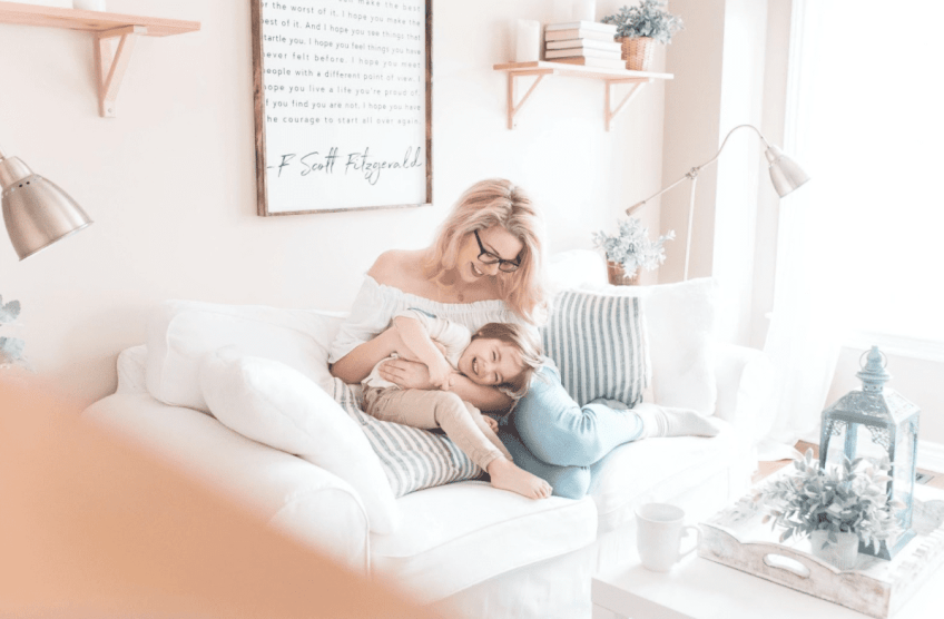 organized home with kids