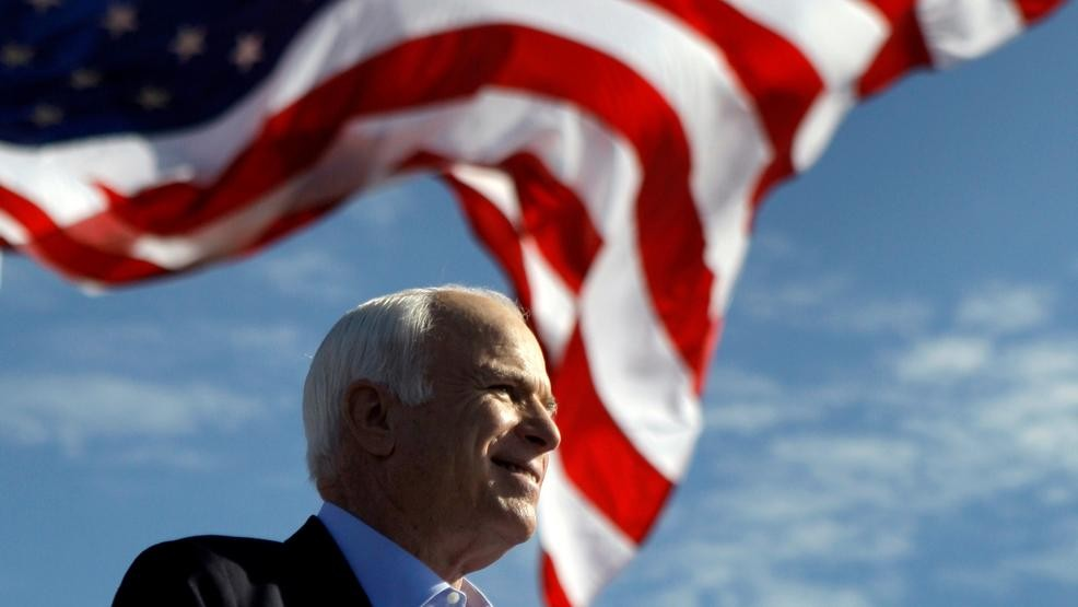 Image result for john mccain half mast flag