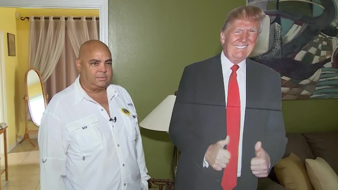 A dialysis patient in Florida wants to know why he can't bring his emotional support life sized cutout of President Donald Trump with him to his dialysis facility during his treatments