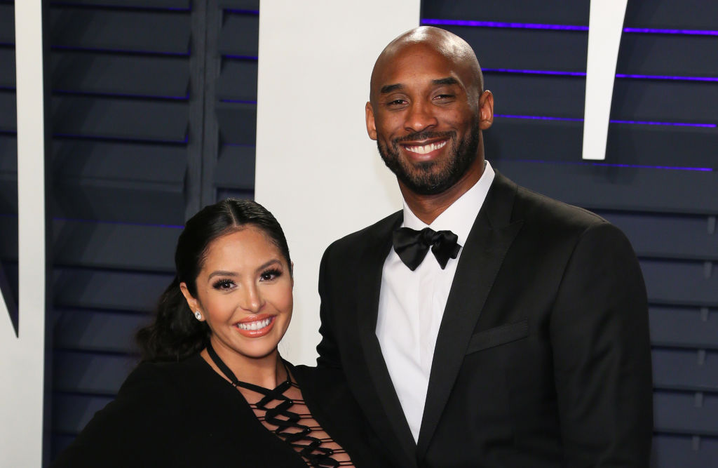 US basketball player Kobe Bryant and wife Vanessa Laine Bryant attend the 2019 Vanity Fair Oscar Party following the 91st Academy Awards at The Wallis Annenberg Center for the Performing Arts in Beverly Hills on February 24, 2019. (Photo by JEAN-BAPTISTE LACROIX/AFP via Getty Images)