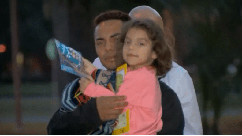 Father reunited with his toddler after he saw her get abducted from their driveway