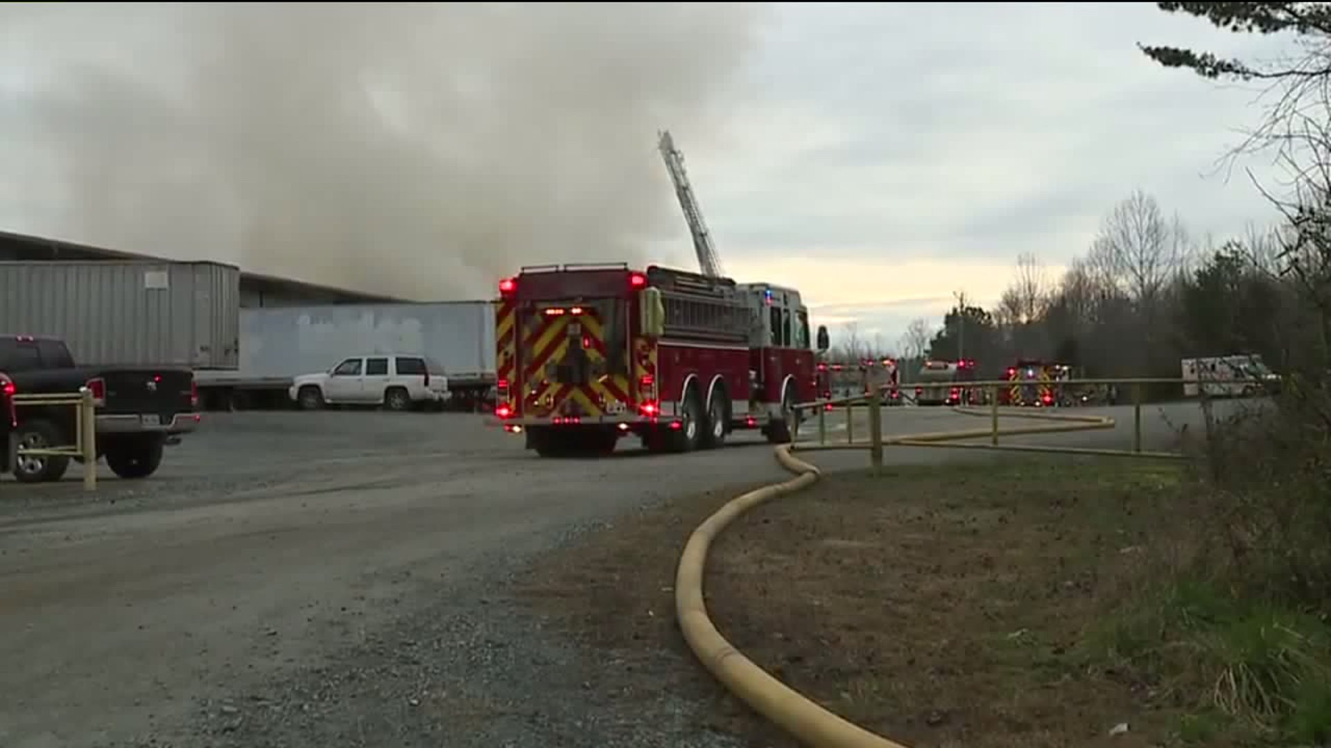 Crews spent hours working to put out a fire at May Furniture in Ramseur, according to Randolph County 911 Communications.