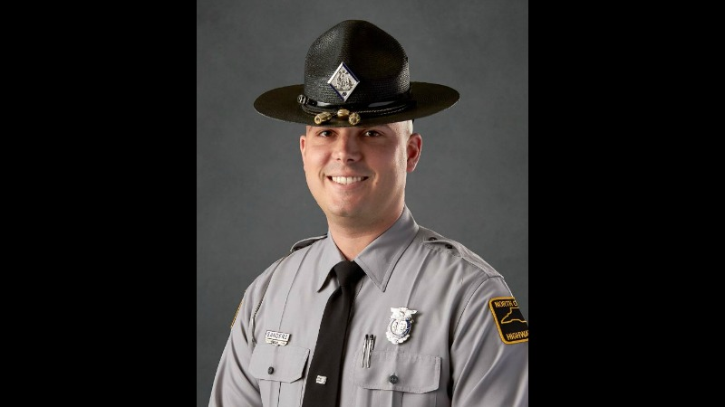 Trooper Nolan Sanders in a photo from the North Carolina State Highway Patrol