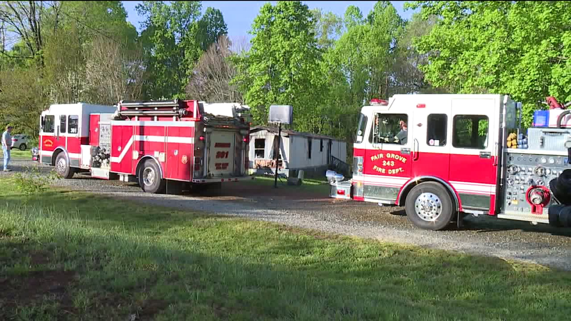 One person is dead after a fire at Ashley Mobile Home Park in Trinity, according to the fire marshal.