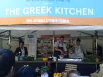 cooking demo at the Greek Festival