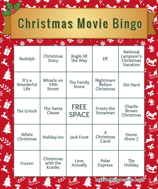 Christmas Movies Bingo