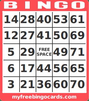 Free Printable Bingo Card Generator