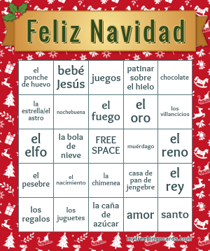 Spanish Bingo Cards