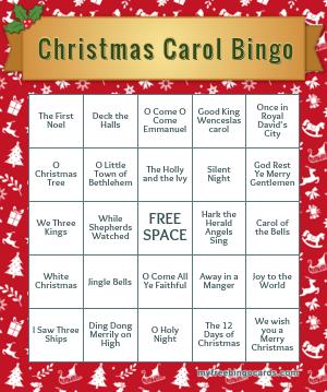 Occasions Bingo Cards