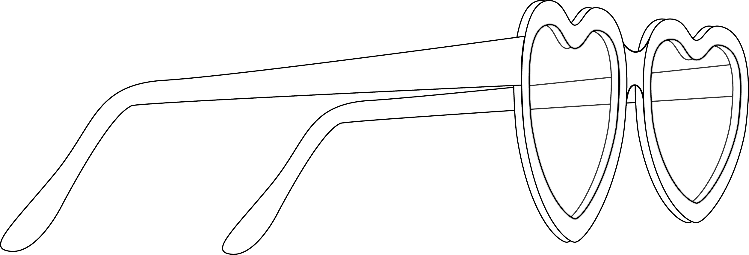Glasses Side-view Cartoon PNG 53