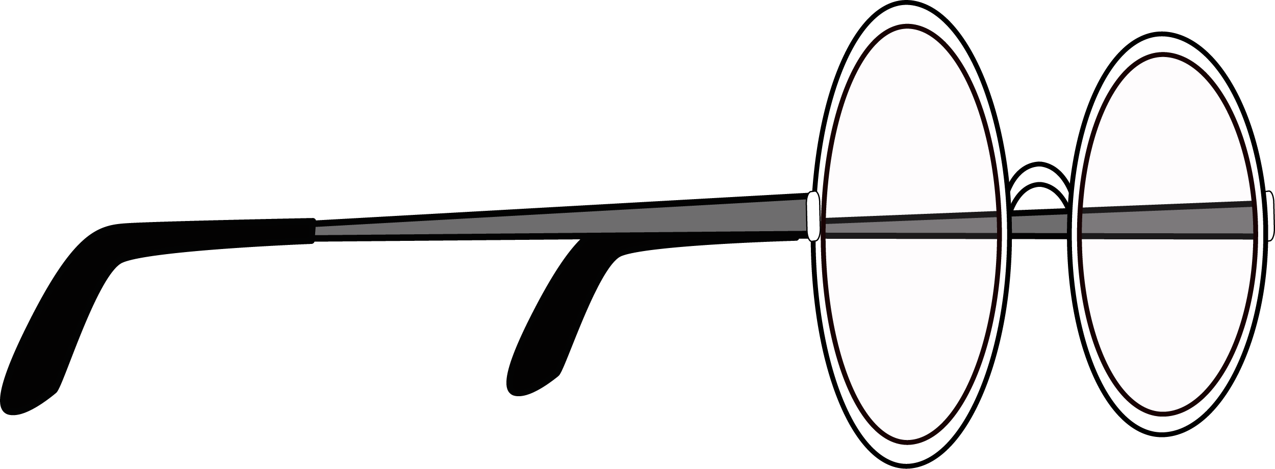 Sideview of Glasses PNG
