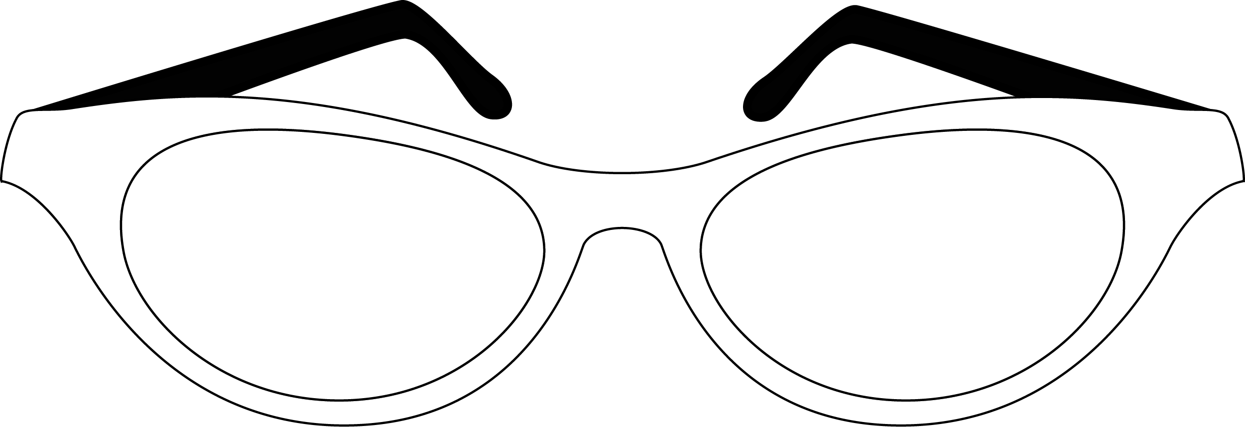 Simple Glasses Drawing PNG