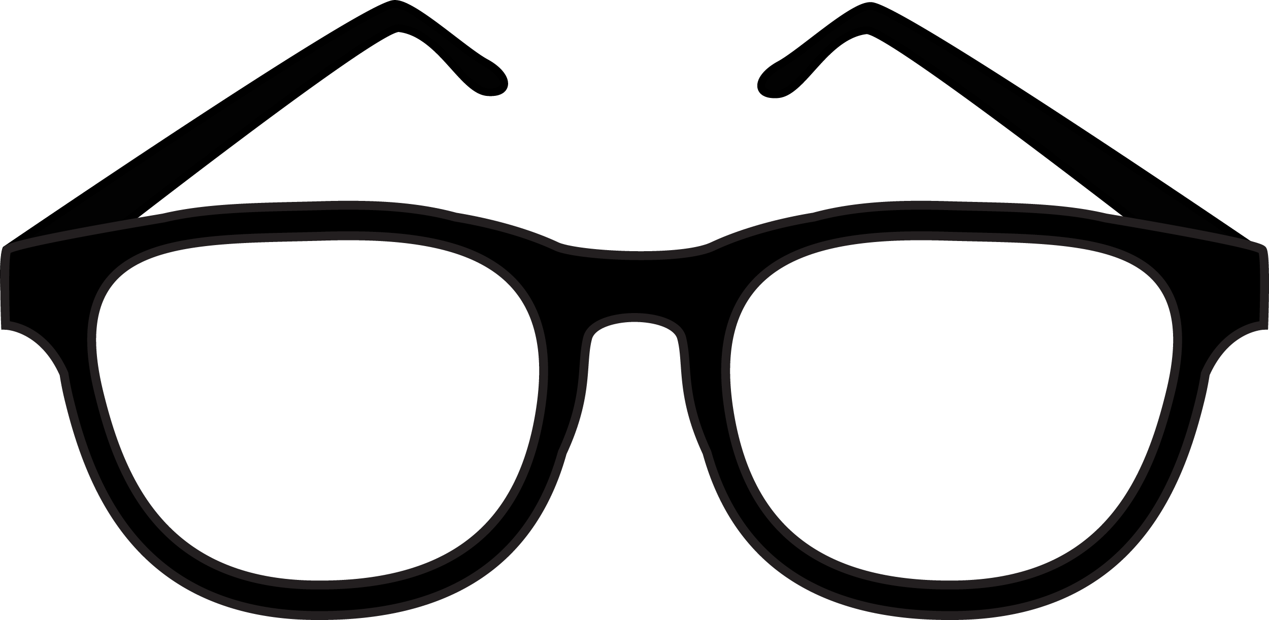 Simple Glasses PNG