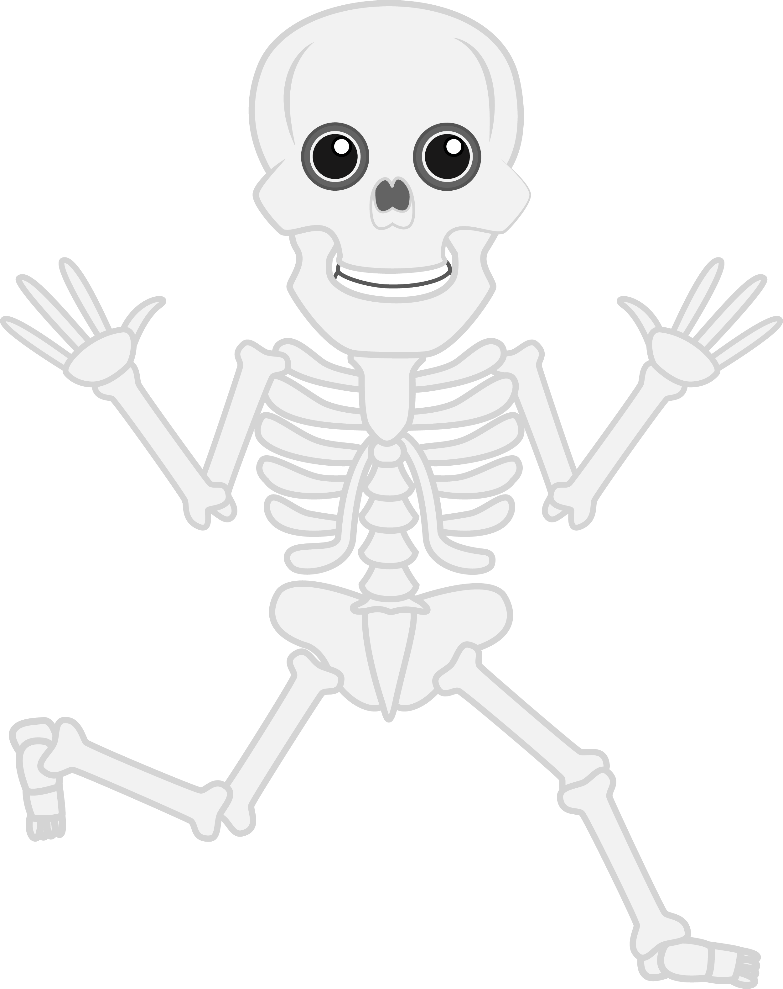 Walking Funny Skeleton PNG