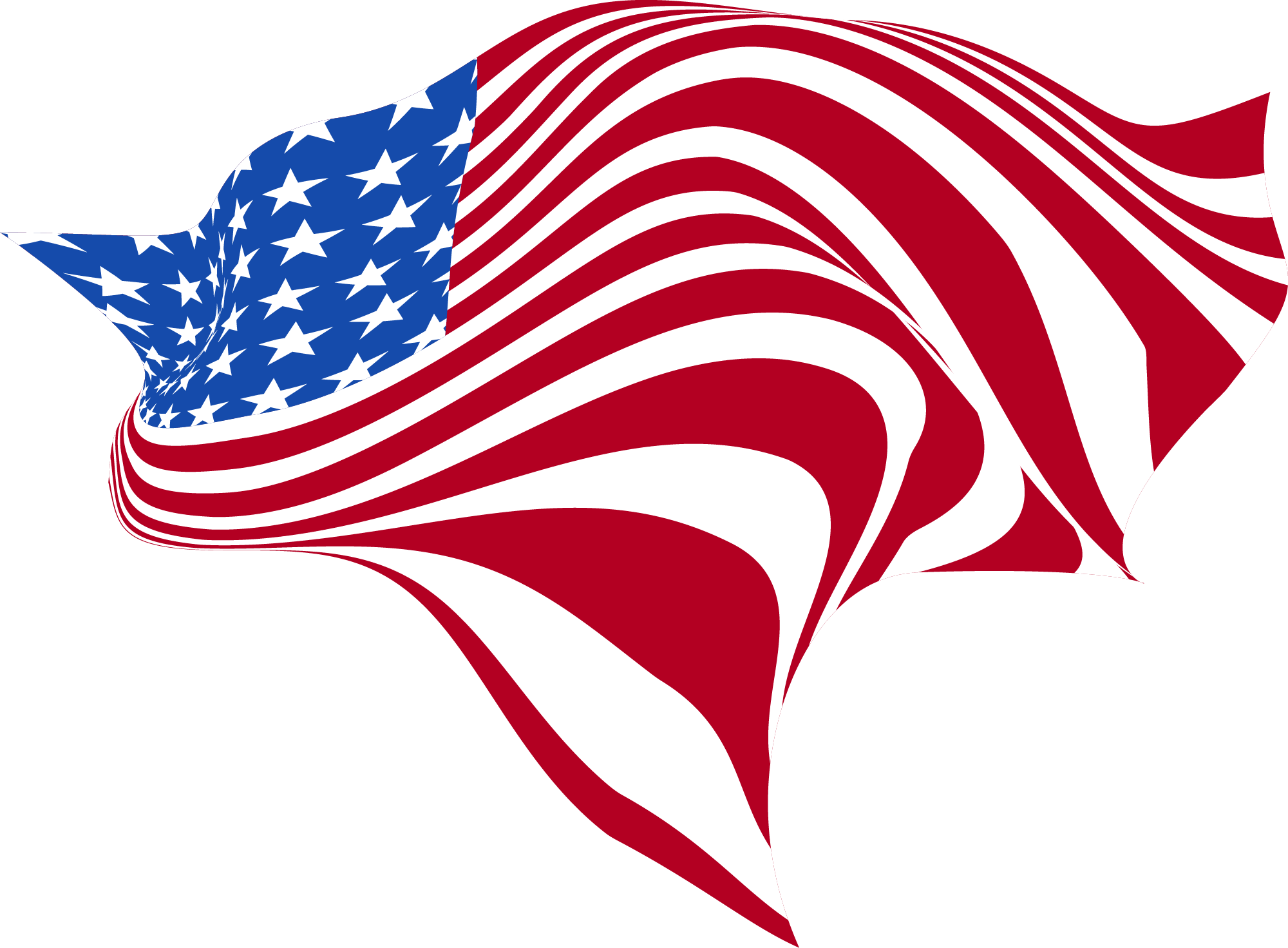 Waves-Shaped-America-Flag-PNG-Clip-Art