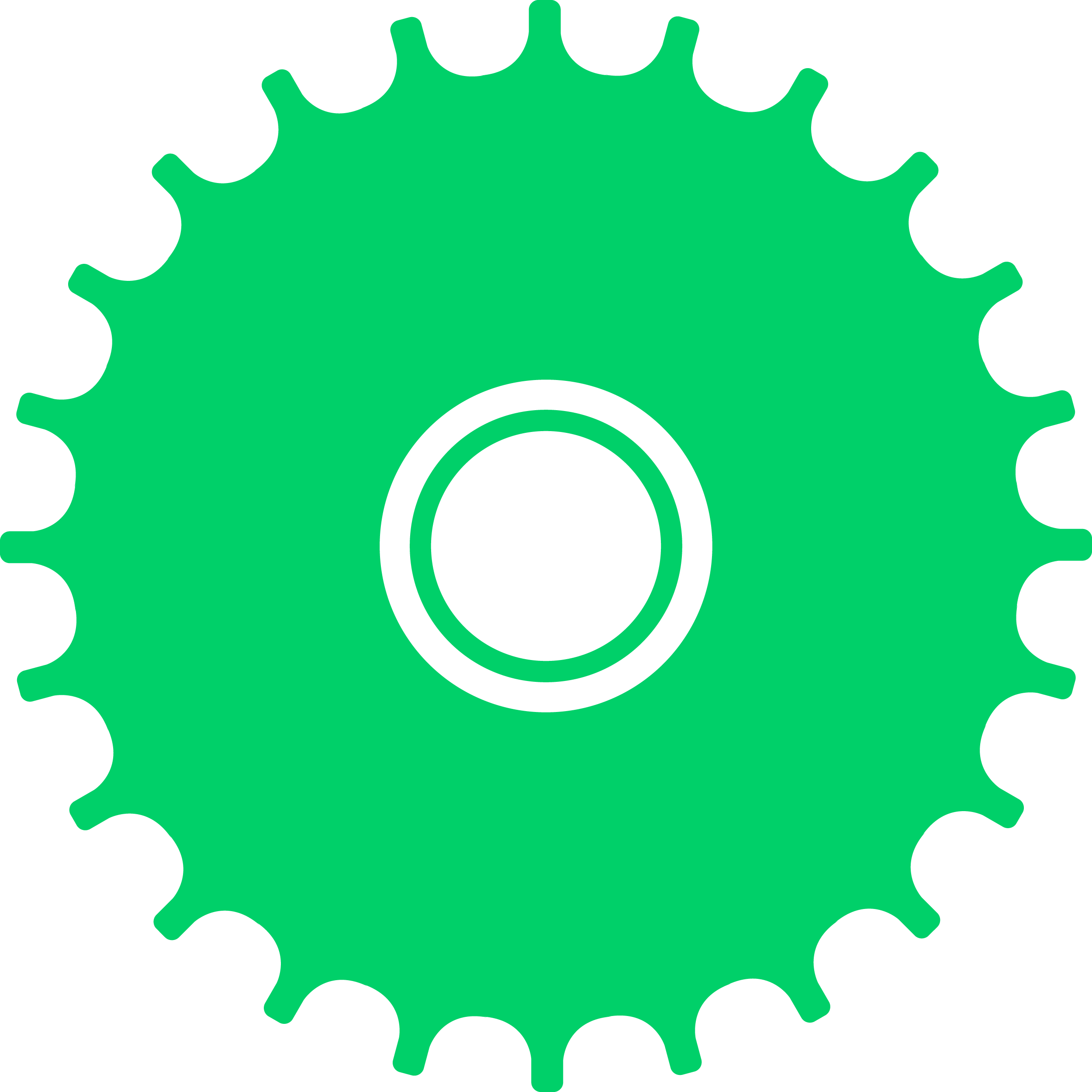 Green Carton Gear PNG Clip-art