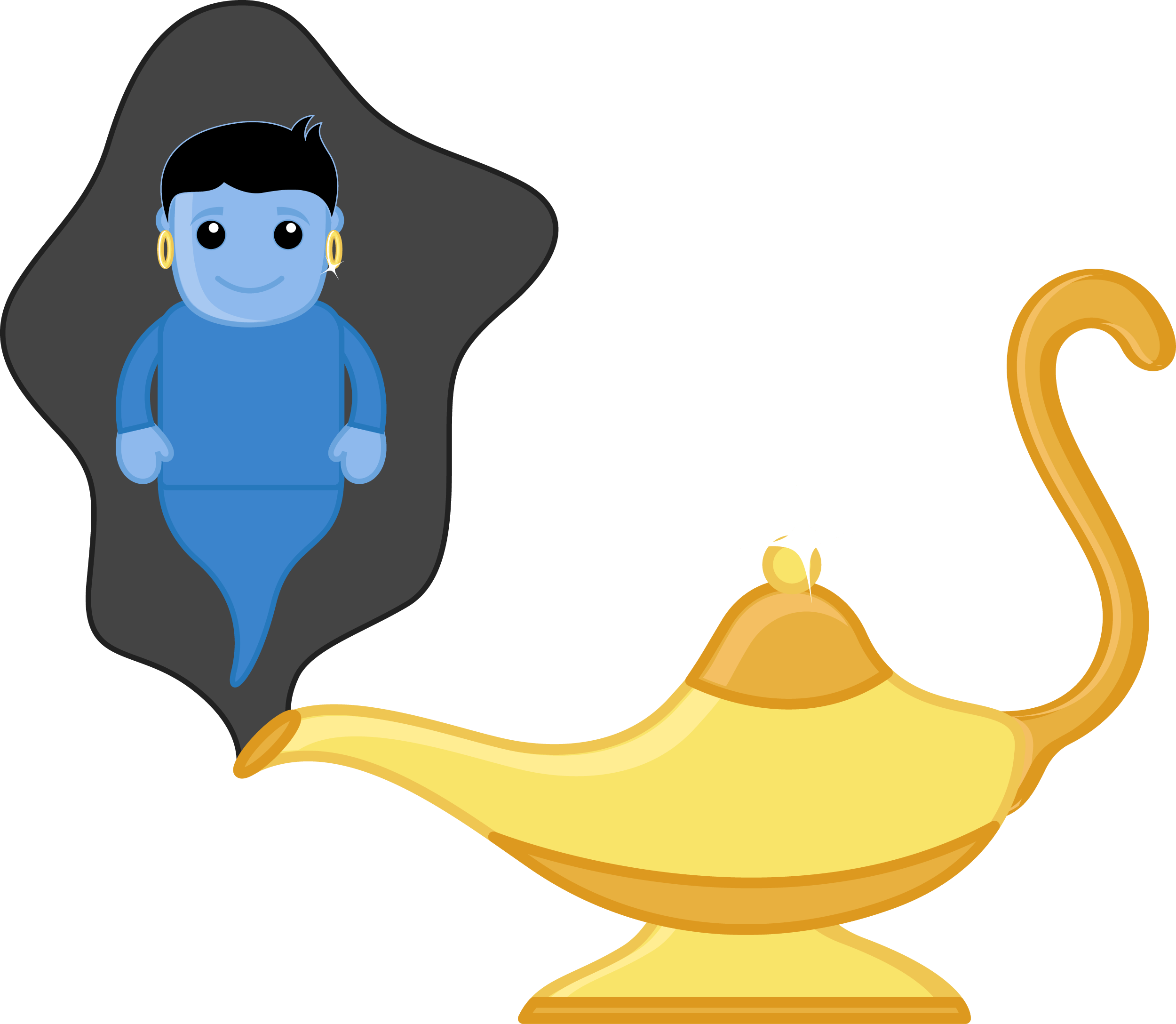 Magic Lamp Clip-art with Genie PNG