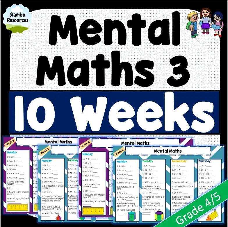 Grade 5 mental maths