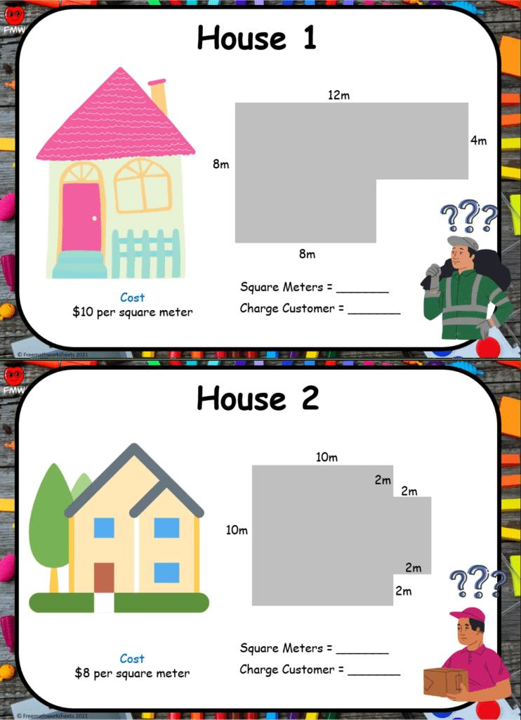 Grade 6 area worksheet