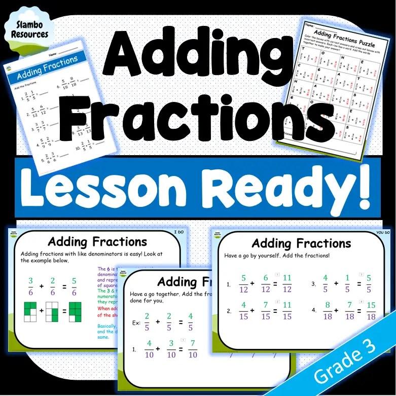 Grade 3 Adding Fractions