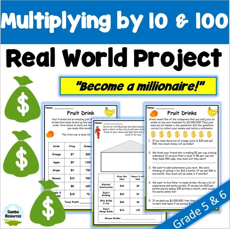Grade 6 multiplication worksheet
