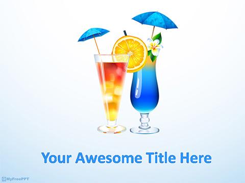 Free Drink PowerPoint Templates - MyFreePPT.com