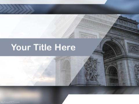 Free Arc De Triomphe PPT Template