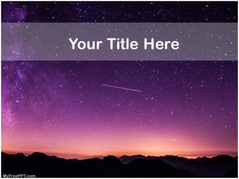 Free Astronomy PPT Template