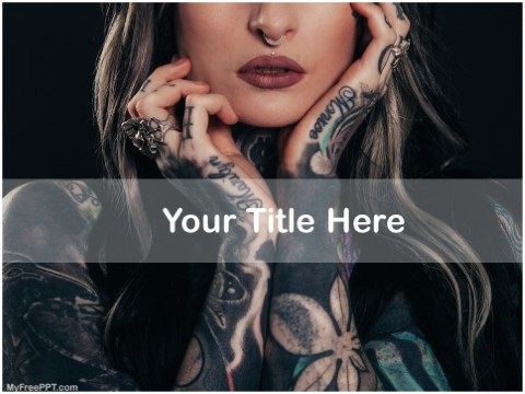 Free Body Tattoo PPT Template