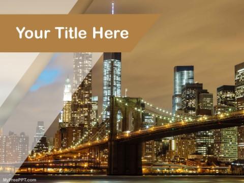 Free Brooklyn Bridge PPT Template