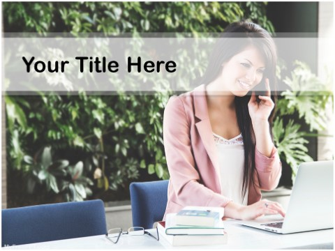 Free Businesswoman PPT Template