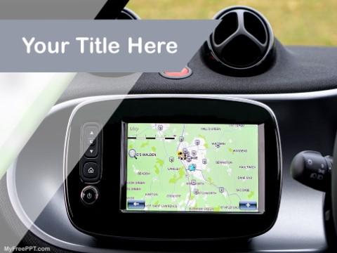 Free Car Navigator PPT Template
