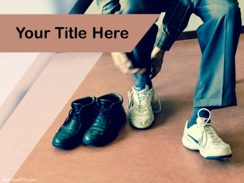 Free Choosing Perfect Shoes PPT Template
