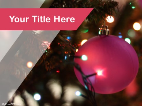 Free Christmas Balls PPT Template