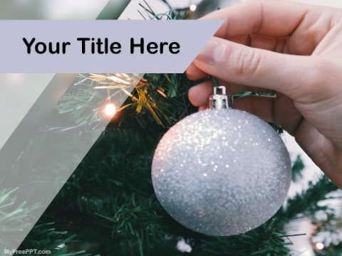 Free Christmas Decoration PPT Template