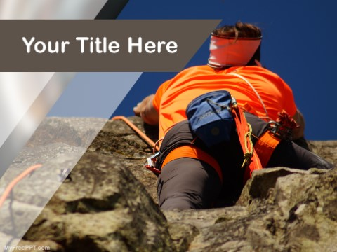 Free Climbing Rock PPT Template