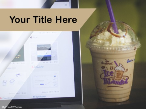 Free Cold Coffee PPT Template