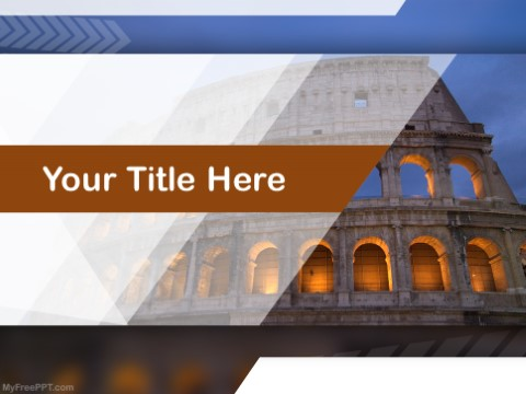 Free Coliseum PPT Template