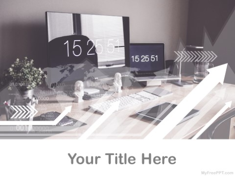 Free Computer Desk PPT Template