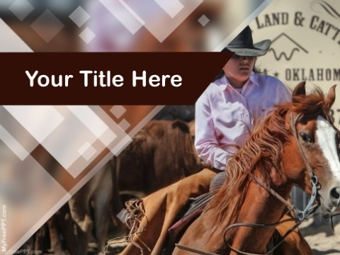 Free Cowgirl PPT Template