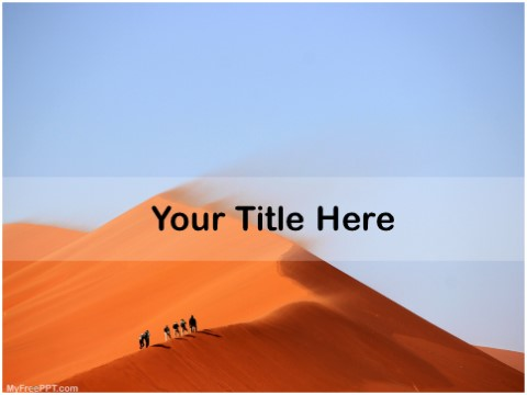 Free Desert Expedition PPT Template