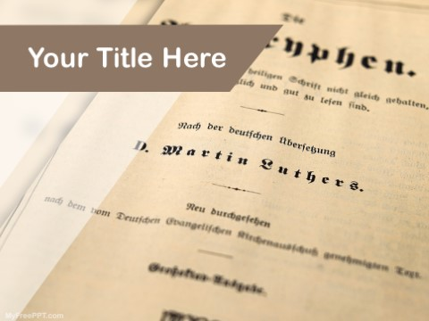 Free English Literature PPT Template